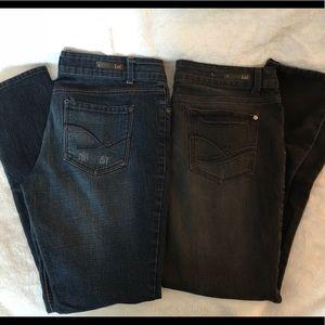 Lot of 2 LEI Denim Jeans Women's or Juniors Sz 13
